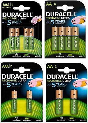 Duracell Recharge Ultra Akkus Accus AAA Micro 900mAh AA Mignon 2500mAh