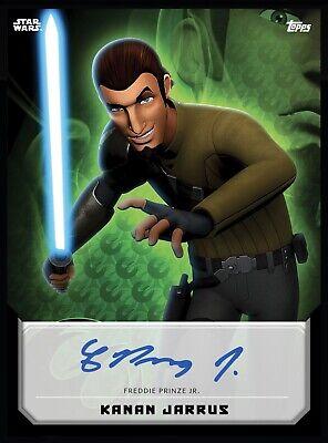 Topps Star Wars DIGITAL Rebels Kanan Jarrus Blue Signature. 1030 Card Count