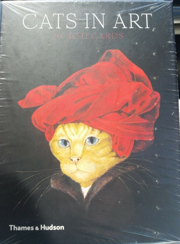 Cats in Art 20 notecards greetings cards & envelopes Thames & Hudson SEALED New