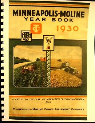 1930 Minneapolis-moline Year Book For The Care And Operation Of Farm Machinery