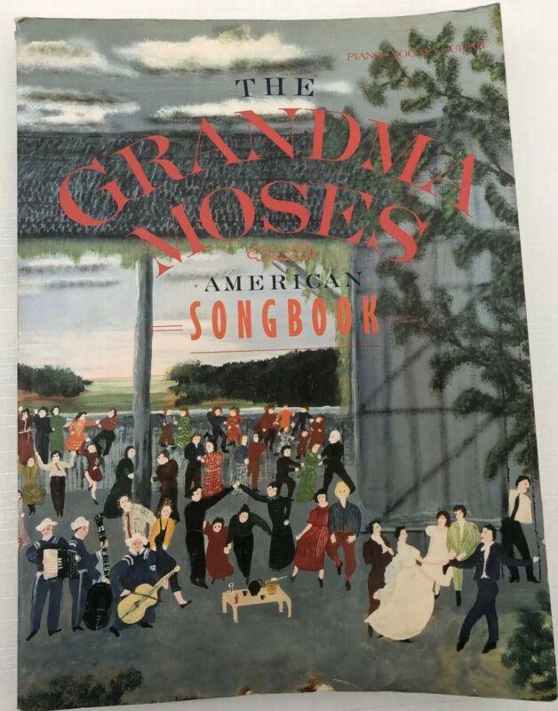 The Grandma Moses American Songbook Piano Guitar Paperback 1985 Vintage