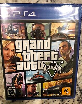 SEALED BRAND NEW Grand Theft Auto V 5 (Sony PlayStation 4, 2014) GTA PS4