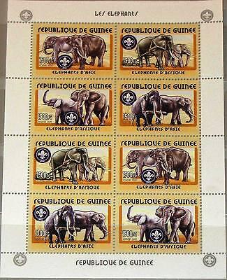 GUINEA 2001 KLB 3406 09 AFRICAN ELEPHANTS ELEFANTEN FAUNA TIERE ANIMALS MNH