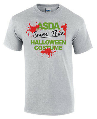 Funny Halloween T-Shirt ASDA SMART PRICE Costume Blood Splat Men's Comedy Shirt](Halloween Costumes Adults Asda)