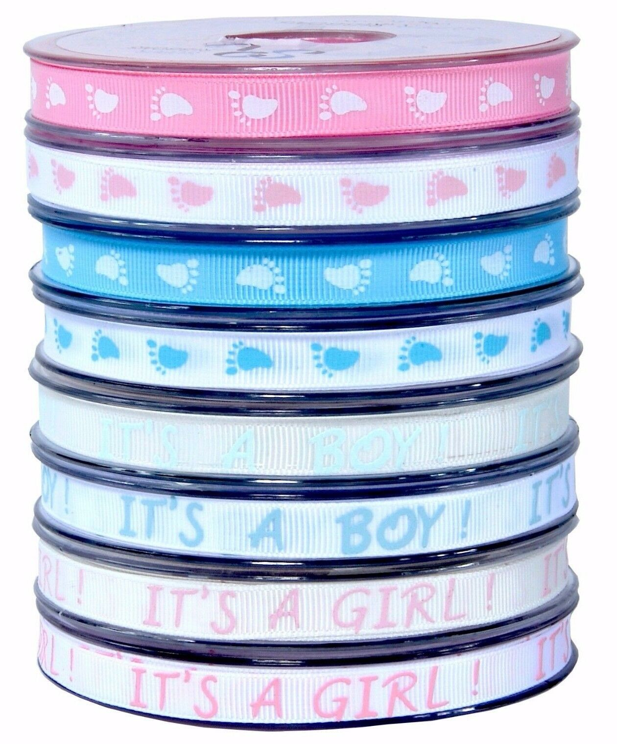 Its a Boy//Girl Precious Baby-Cotton//Cream Baby Ribbons-15mm-3 Metres-Baby Shower
