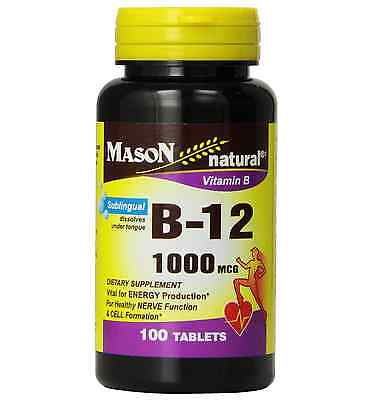 Mason Natural Vitamin B-12 1000mcg, Sublingual Tablets 100 ea