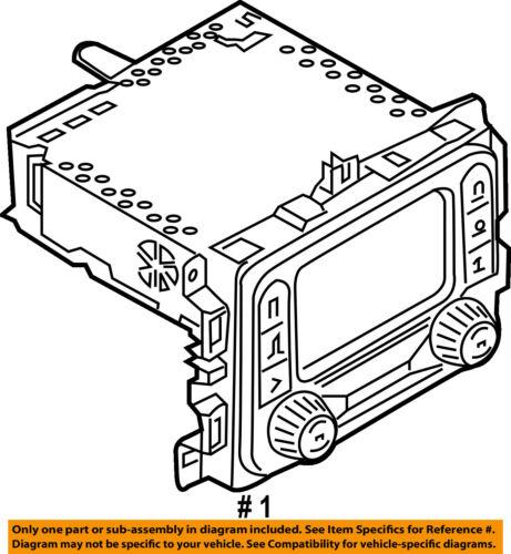 Jeep Chrysler Oem 15 16 Renegade Stereo Audio Radio Dash Head Unit