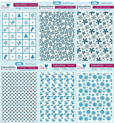 CRAFTERS COMPANION EMBOSSALICIOUS A4 EMBOSSING FOLDER MANY DESIGN CHOICES - NEW (Crafters Design)