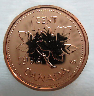 1994 CANADA 1 CENT PROOF-LIKE PENNY