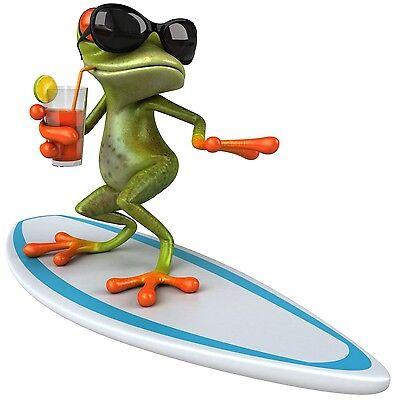 sch Cool Frog Sticker klein (Coole Aufkleber)