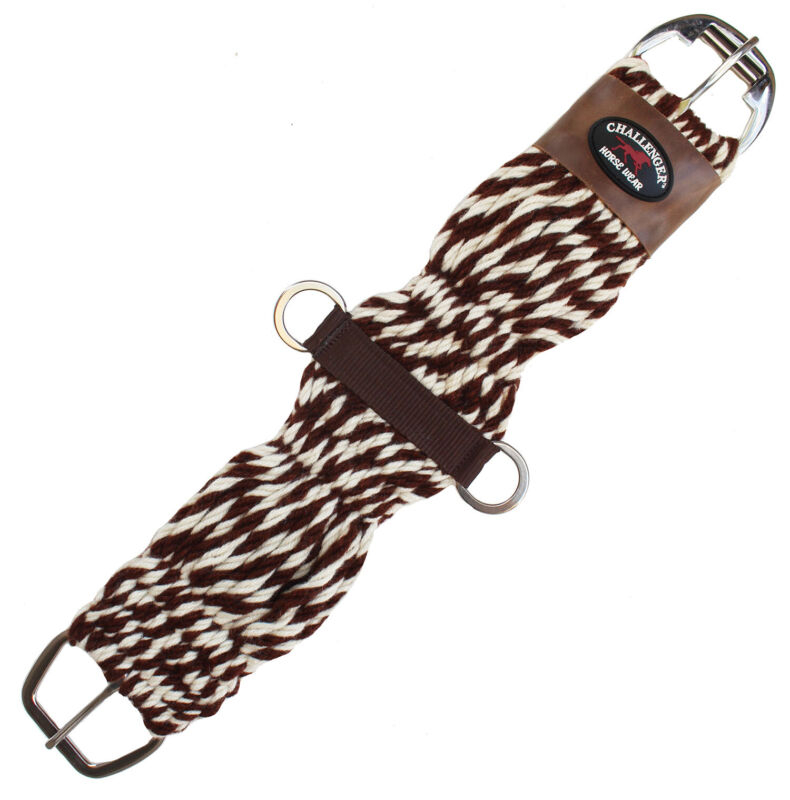 Horse Western Mohair Wool Girth Breathable Saddle Cinch Stainless Steel 97RT01
