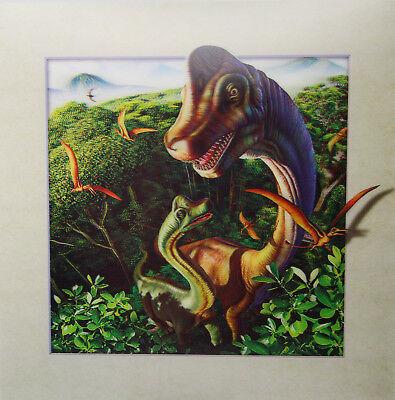 3D Lenticular Poster -Mother & Baby Dinosaur -16x16 Print