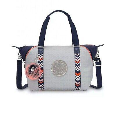 Kipling Art S Tote Bag  Grey Embossed RRP £112