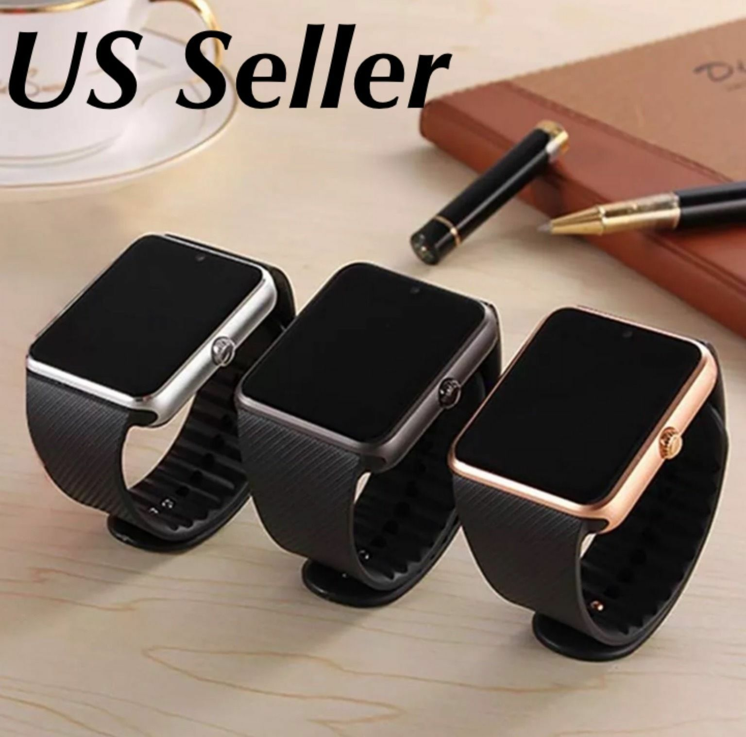 $10.99 - Smart Watch Bluetooth For Samsung iPhone HTC LG Android Ios Wrist Phone New