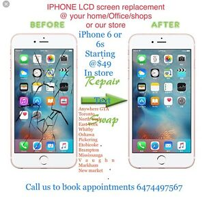 iPhone screen lcd replacement @ your home @ our store