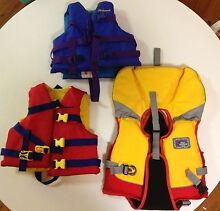 3 child's life jackets - 12 - 25 kg New Lambton Newcastle Area Preview