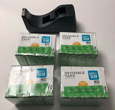 Desktop Tape Dispenserweighted Baseblack 16 Rolls Of Tape