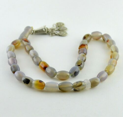33 Yemeni Tasbih Aqeeq Agate Prayer Beads, Yemen Islamic Akik Tesbih Men Gift