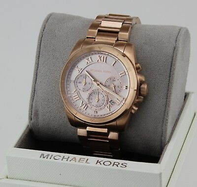 NEW AUTHENTIC MICHAEL KORS BRECKEN ROSE GOLD CHRONOGRAPH WOMEN'S MK6367 WATCH