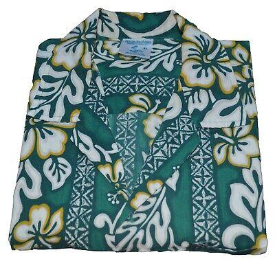 Vintage Hawaiian Hana Fashion Green Mens Shirt Size XL