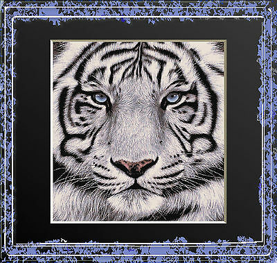 WHITE TIGER PORTRAIT~DELICA BEAD PEYOTE PATTERN ONLY