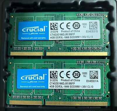 "8GB 2x4GB RAM DDR3L 1866MHz PC3-14900 iMac 27""  Late 2015 Memory Upgrade"