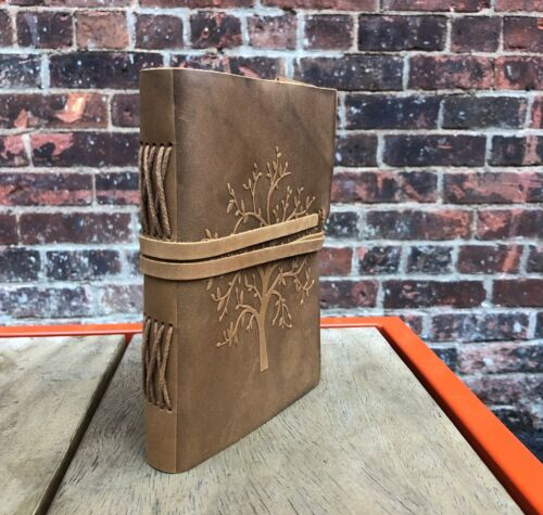 """Leather Journal Tree of Life Handmade Sketchbook Notebook Leather Bound 7""""x5"""""""