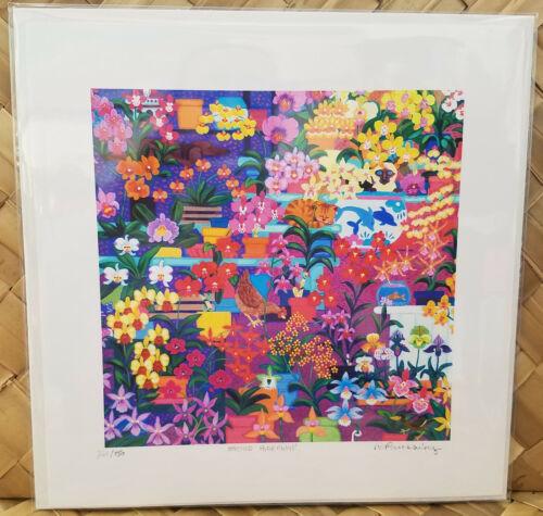 "Hawaii Hawaiian "" Orchid Hideaway"" Rosalie Prussing Print"