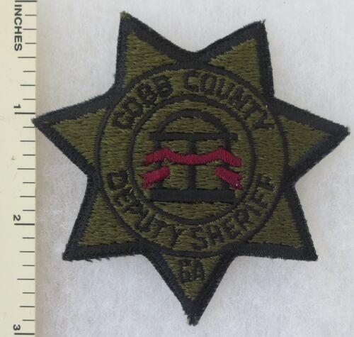 COBB COUNTY GEORGIA DEPUTY SHERIFF PATCH Vintage ORIGINAL Subdued