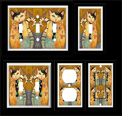 KLIMT CAT CALICO LIGHT SWITCH COVER PLATE MULTIPLE PLATES   HOME DECOR  Decorative Switch Cover Plates