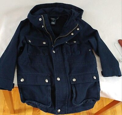 Polo Ralph Lauren Boys Youth Navy Military Coat with Hood Size - Military Boys