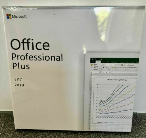 Microsoft Office 2019 Professional Plus For Windows PC Retail New Sealed Box DVD