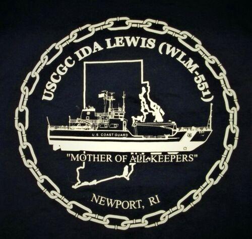 USCGC Ida Lewis WLM 551 T-Shirt Adult M Medium United States Coast Guard