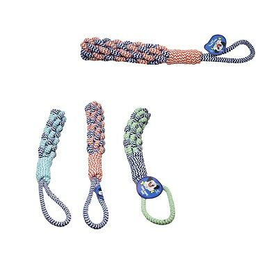 Dog Rope Chew Toys Kit Tough Strong Knot Ball Pet Puppy Cotton Teething Toy 6549