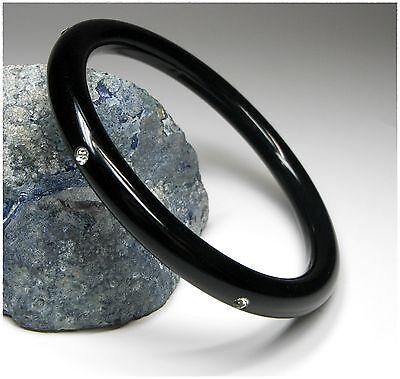 NEU 20cm ARMREIF schwarz mit STRASSSTEINE in klar/kristallklar ARMREIFEN
