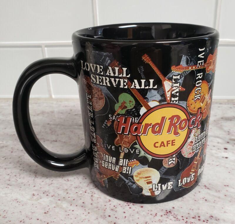 Hard Rock Cafe Jumbo Coffee Mug Orlando 18 oz. Live Love Rock Love All Serve All