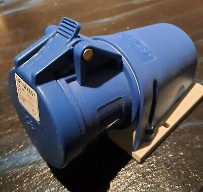 Industiesteckdose blau Wanddose 32 A 6h bis 250V IP44 Mennekes Typ 1346 kompl.