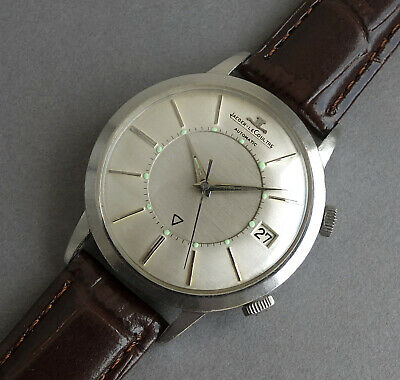 JAEGER LECOULTRE STAINLESS JUMBO AUTOMATIC MEMOVOX  Wrist Alarm Gents Watch 1965