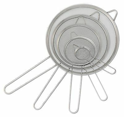 Kitchen Strainers Set of 5 - Stainless Steel Fine Mesh Sieve, Flour Sifter