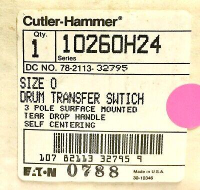 Eaton Cutler Hammer 10260h24 Drum Transfer Switch Self Centering 3 Position Sz.0