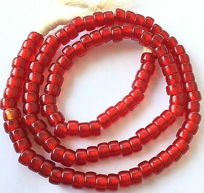 Fine Translucent Dark Red Bohemian glass Crow African trade beads