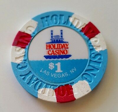 $1 Las Vegas Holiday Casino Chip Riverboat Pic - Near Mint