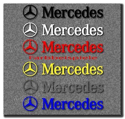 Mercedes Benz 6 tlg. Aufkleber Set 80 x 14 mm ---30 Farben--- MB018
