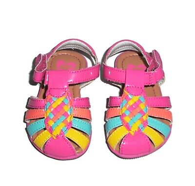 Stride Rite Toddler Girls Size 4 Colette Sandals Patent Pink Multi Color Shoes