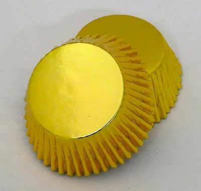 Set of 100 Gold Foil Standard Muffin Baking Cup Liners New BCF-01-100 NEW (Cup Of Gold Candy)