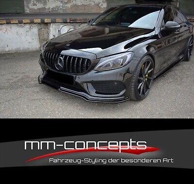 Cup Spoilerlippe SCHWARZ für Mercedes C-Klasse W205 AMG C43 Schwert Lippe Front