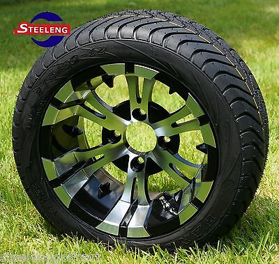 """GOLF CART 12"""" VAMPIRE WHEELS and 215/40-12 DOT LOW PROFILE TIRES (SET OF 4)"""