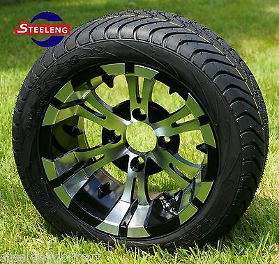 Photo GOLF CART 12'' VAMPIRE WHEELS and 215/40-12 DOT LOW PROFILE TIRES (SET OF 4)