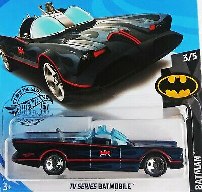 2019 - Hot Wheels - TV SERIES BATMOBILE ( Blue Flames ) - Card #118 - Free Ship