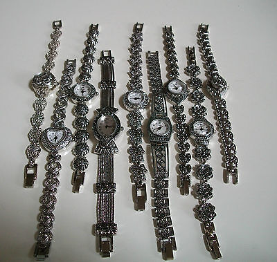 Vintage Look Bracelet Marcasite Style  Antique Lady Special Occasion Watches  - New Ladies Marcasite Style Watch